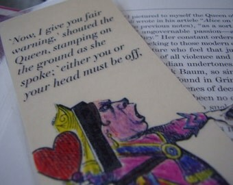 Queen of Hearts Fair Warning Bookmark (laminated)