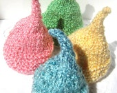 Hand Knitted Baby Hat - Kiss Elf Hat for a Baby - Premie to Toddler, Spring Colors, Photography Prop