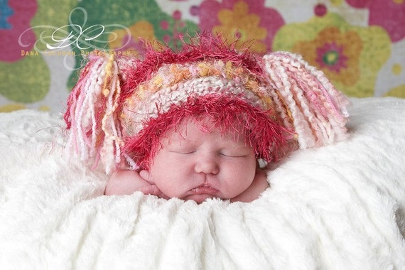 Items similar to Crocheted Jester Hat For Newborn Baby in ...