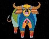 ZODIAC OX ART - Chinese Zodiac Animals by Thailan When