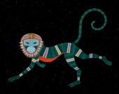 ZODIAC MONKEY ART - Chinese Zodiac Animals by Thailan When