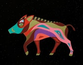 ZODIAC PIG ART - Chinese Zodiac Animals by Thailan When