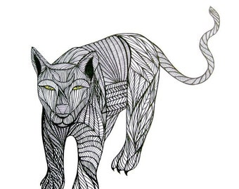 PUMA LINE DRAWING- Art by Thailan When