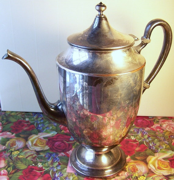 Vintage Sterling Silver Plate Teapot F.B. Rogers 1883