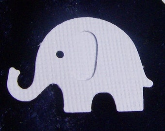 Elly the White Elephant Cut Outs - 50