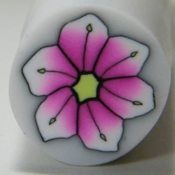 Hot Pink pointed tip polymer clay flower cane - Sale 10/59