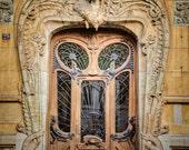 Paris Door Photo Parisian Architecture Photograph France Neutral Colors Brown Beige Tan Pastel Beaux Arts par4