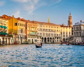 Venice Photography Grand Canal Rialto Bridge Photo Italy Photograph Gondola Print San Marco  ven25