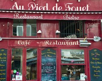 Paris Photography Bistro Photograph Cafe Photo Restaurant Print Cafe Photograph Red Menu Board France par3