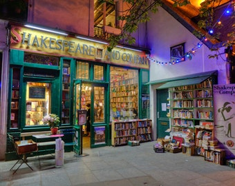 Paris Photography Shakespeare and Company Photo Bookstore Photograph For Readers Cozy Vintage Books  par8