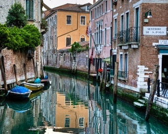 Venice photograph Italy Photograph Canal Photo Neutral Colors Reflections  Fine Art Print ven40