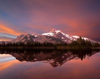 Mountain Photograph  Landscape Photo Nature Print Wilderness Oregon Cascades Mt Jefferson Sunrise nat17