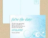 save the date postcard sea breeze