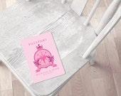 state of love romantic passport program cover - printable file