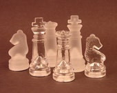 32 Mini Glass Chess Pieces for use in your Altered Art, Mixed Media and Jewelry Creations