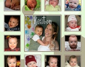 Baby's First Year Photo Collage Design, boy or girl  DIGITAL FILE