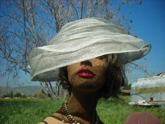 Pale Blue, Multi-Layer, Large Brim Net Hat,SUMMER BONNET from Nordstrom's - Large Size