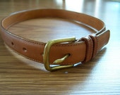 British Tan Coach Belt, Size 28, XS/S