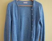1960s Light Blue Wool Cardigan, XS/S