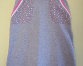 Early 1990s Built By Wendy A-Line Skirt, Gray and Pink, XS/S