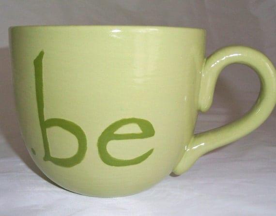 Big Jumbo Super Mug for Coffee or Soup by Red Crow Arts