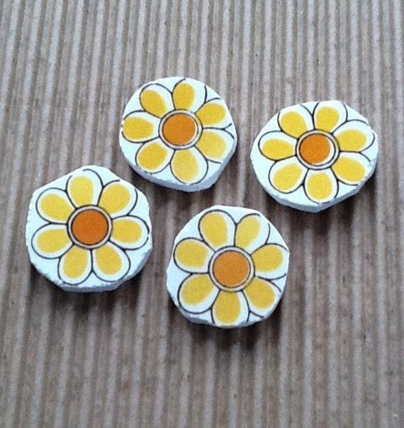 Round Flower Cut Out Designed Broken Plate Mosaic Tiles