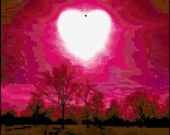 Counted Cross Stitch Pattern - Love Rise