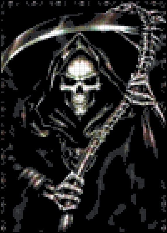 The Reaper Gothic Cross Stitch Pattern