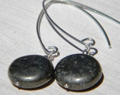 Pyrite Puff Dangles - Pyrite and Sterling Silver