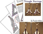 Crystal Windows Triangle Earring Tutorial Instant Downloadable Pattern