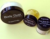 Body Dust Kit AND your choice of Face Slime sample AND your choice of Foot Gunk foot scrub sample