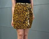 leopard print mini skirt skort- s