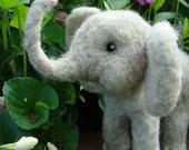 Ell-Elle the Elephant Needle Felting Soft Sculpture by Bella McBride