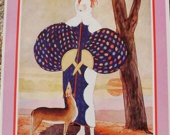 Vintage VOGUE Poster - Autumn Fabrics  Original Designs - September 1924