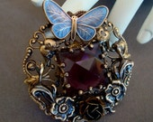 VICTORIAN PRESENCE, Custom Designed Necklace Pendant, Lovely Amethyst Faceted Jewel