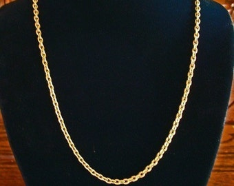 Jewelry Necklace Chain, Solid VINTAGE BRASS CABLE Necklace chain, Great Color, Great Weight, Great Price, 18 to 36 Inches, Sturdy Clasp