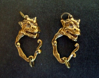 2 Little BULL Creatures, 2 Ring Connectors or Pendant, Wonderful for Earrings Or Necklaces