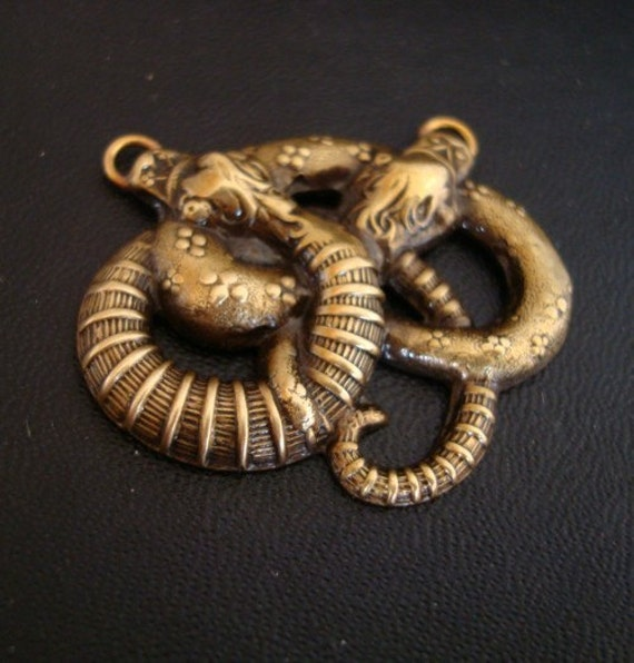 GORGEOUS SNAKE CONNECTOR, Custom 2 Ring Connector but can be used as a 3 ring connector