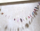 Colourful circles upcycled mobile or garland