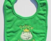 Embroidered Prince Charming baby bib