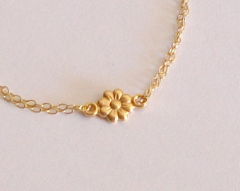 Flower bracelet 14k gold filled