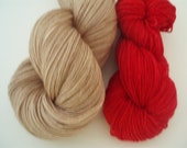 Rudolph-fingering weight Sturdy with contrast color included