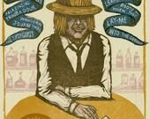 Todd Snider Letterpress Poster