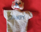 Vintage 50's CHAMPY the Lion General Mills puppet
