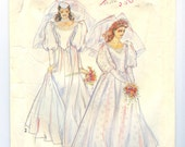 Vintage Uncut Wedding Dress multisize pattern sizes 8 through 18 XS to Medium Large New Look 6201