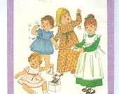Toddlers Dress and Pinafore Vintage 70s sewing pattern Simplicity 8279 Size 1