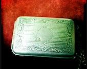 MERMAID TREASURE - Flapper's Fancy - Customized Solid Perfume in Vintage FLAPPER Dance Compact Art Deco/Art Nouveau  -