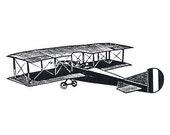 Unmounted Rubber Stamp - Biplane