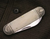 Personalized Hand Engraved Pocket Knife Sunfish Mens Gift     Anniversary Groom gift Custom Initials