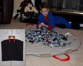 Neat 'n Tidy Playmat Bag (Charcoal Black) .... No Drawstring Concerns